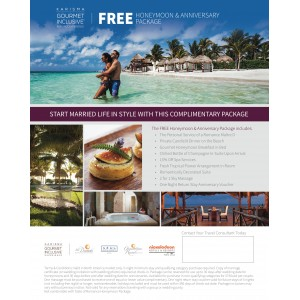 Free Suite Upgrade Honeymoon Anniversary Package Flyer